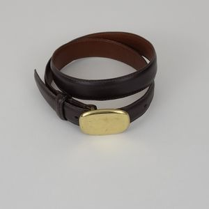 Vintage Coach Leather Belt Small with Brass Buckle